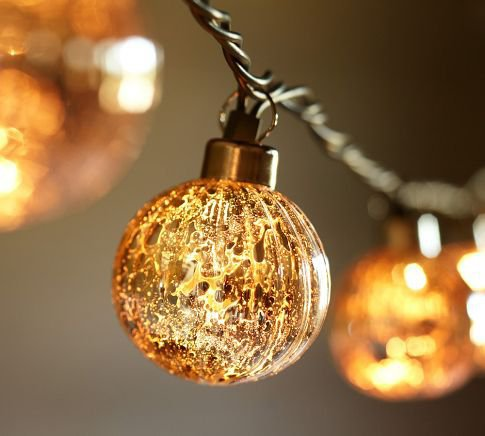 Mercury Glass Globe String Lights from Pottery Barn Epic