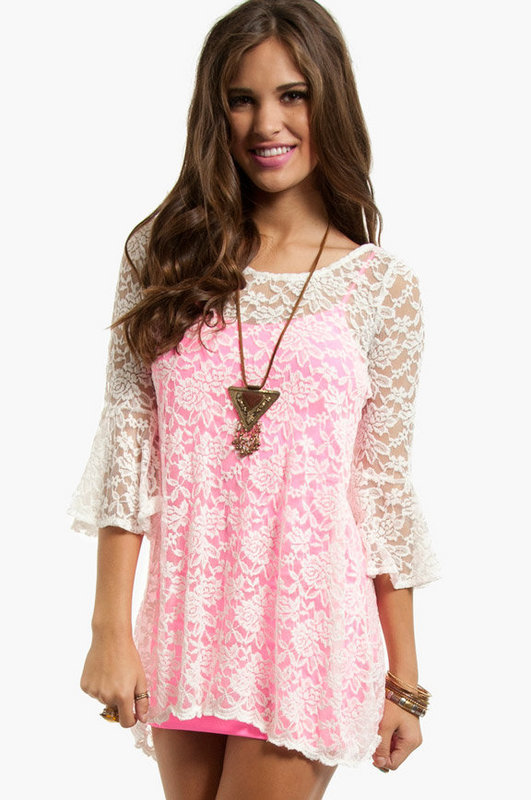 Juliet Lace Tunic $26 (on sale from $38)