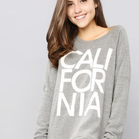 Grey California Sweatshirt Top