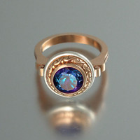 MARIA 14K gold ring with Alexandrite