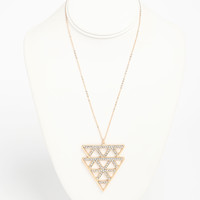Tribal Rhinestone Necklace