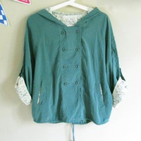 Malachite Green Lace Trench Coat$45.00