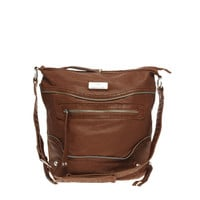 River Island Zip Messenger Bag at asos.com