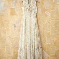 Free People Vintage Blue Floral Maxi Dress