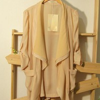 Beige Stitching Trench Coat$42.00