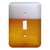 Beer Light Switch Plate Cover by abethepunk on Etsy