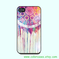 iphone 4 case - dream catcher,cute iphone 4 case, iphone 4S case in plastic or silicone,color in black or white or clear
