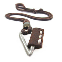 soft leather necklace,metal pendant men leather long necklace, women leather necklace  PL0221