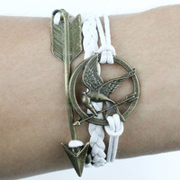 Bracelet-The Hunger Games bracelet,arrow bracelet,bird bracelet
