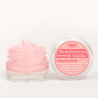 Whipped Lip Butter - Strawberry &amp; Vanilla - Natural Icing for Your Lips