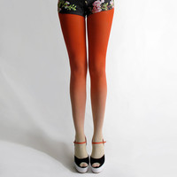 BZR Ombré tights in Sunset