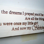 Beautiful Daughter Graduation Coming Of Age Wood Sign