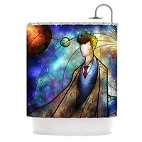 """Mandie Manzano """"The 10th"""" Space Blue Shower Curtain - 69"""" x 70"""" / Polyester"""