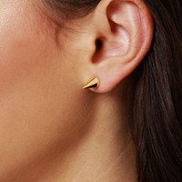 Cute Gold Earrings - Spike Earrings - Stud Earrings - $10.00