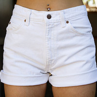 Vintage White High Waisted Levi's