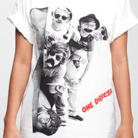 One Direction T Shirt 1D Detection Women Short Sleeve T Shirts White Tee Shirts Men Shirts Women Unisex T-Shirt Size L
