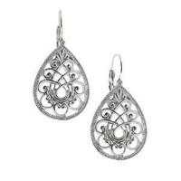Amazon.com: Swirly Filigree Teardrop Earrings: Jewelry