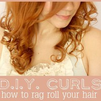 D.I.Y. Curls // How To Rag Roll Your Hair - A Beautiful Mess