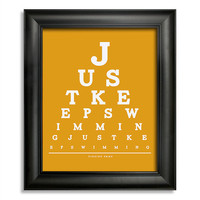 Finding Nemo, Just Keeps Swimming Eye Chart, 8 x 10 Giclee Print BUY 2 GET 1 FREE