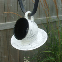 Upcycled Tea Time for the Birds | Urban Gardens | Unlimited Thinking For Limited Spaces