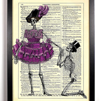 The Proposal Skeleton Anatomy Repurposed Book Upcycled Dictionary Art Vintage Book Print Recycled Vintage Dictionary Page Buy 2 Get 1 FREE