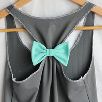 Attachable Bow - Workout Racerback in Tiffany Blue