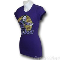 Joker Ho! Ha! Purple Junior Womens T-Shirt