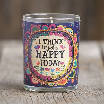 Ix27ll  Just  Be  Happy  Natural  Life  Scented  Soy  Candle