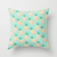 Pineapple Throw Pillow by Sibylline