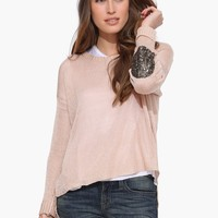 Ellie Patched Knit Sweater