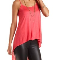 Caged-Back High-Low Tank Top by Charlotte Russe