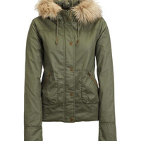 Aeropostale  Hooded Aviator Jacket