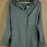 Gray nut cardigan sweater $39.00