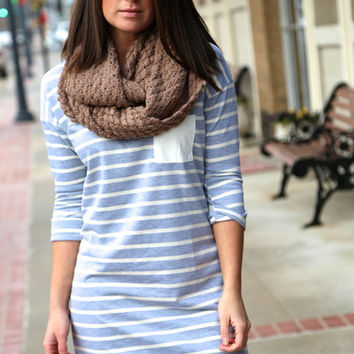 Grey & Ivory Pocket Dress