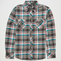 Micros Dreamer Mens Flannel Shirt Charcoal  In Sizes
