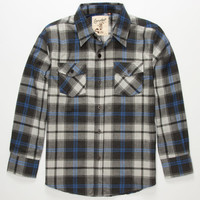 Coastal Magic Boys Flannel Shirt Grey  In Sizes