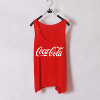 Coca Cola- Women Tank Top - Red - Sides Straight