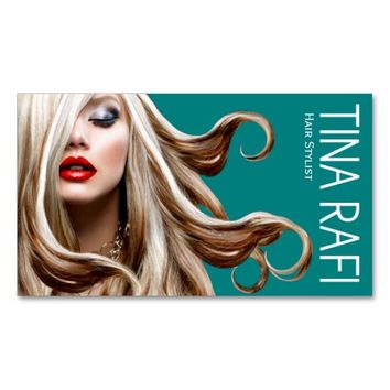 Flowing Tresses Hair Stylist blonde | teal