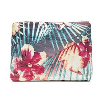 Samudra Hibiscus Pouch in Teal