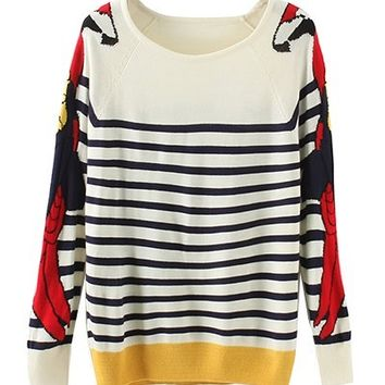 STRIPED PARROT SWEATER