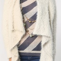 Fluffy Soft Knit Open Cardigan