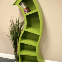 FREE SHIPPING, Handmade 6FT curved bookshelf