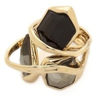 Starlight Marquis Cluster Band Ring