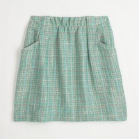 charter skirt in surf tweed