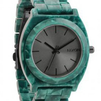 nixon - the time teller acetate watch (emerald acetate) - Nixon | 80&#x27;s Purple