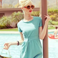 Summer Wind Cap Sleeve Dress