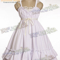 Casual/Sweet Lolita: Empire Waist Basic Frilly JSK/Dress*Instant Shipping