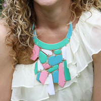 Mint & Nectar Necklace in Pink, Women's Sweet Country Inspired Jewelry
