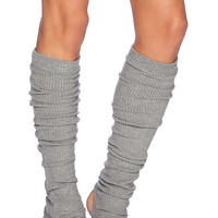 SOLOW Rib Leg Warmer in Gray