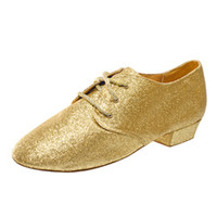 Adult Cabaret Glittery Lace Up Jazz Shoe